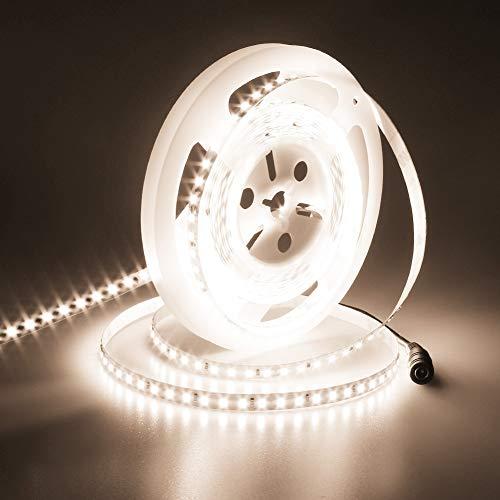 JOYLIT 24V Tiras LED Iluminación Blanco Natural 4000K, UL CE Listado 90W Súper Brillo 5500LM, 5M Flexible Alta Densidad 600LEDs SMD2835 IP20 No Impermeable Luces LED