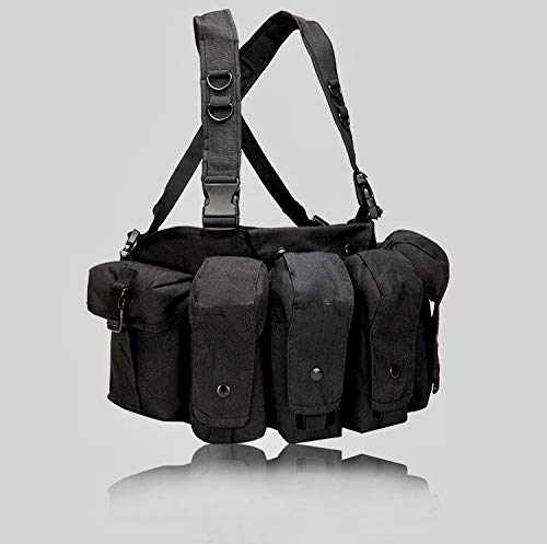 Emproda Universal AR AK Chest Rig for Training, Hunting, Airsoft, Operation (Black)