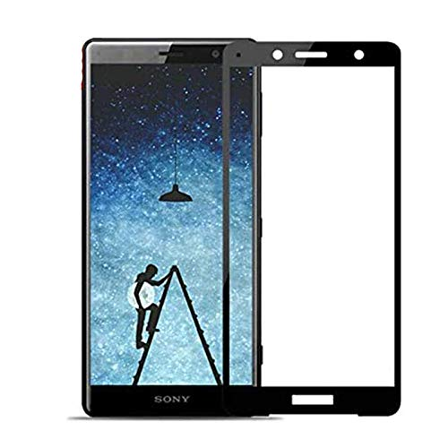 Cristal Templado para Sony XZ2 Compact Protector de pantalla, [2 Pack] Cobertura completa Protector de pantalla de vidrio templado Film [Sin burbujas] [Anti-Scratch] [HD Clear] [9H Dureza]-Negro