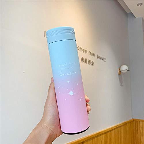 B/H Libre BPA,Botella de Agua Deportiva,Personalidad Creativa de la Taza de Agua para Estudiantes Taza de Acero Inoxidable-H_1#