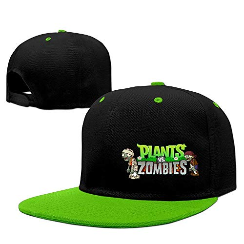 YVES Unisex Plants Vs Zombies Baseball Cap Red Kellygreen