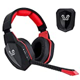 winkona 2,4 GHz Wireless Gaming Casque – Compatible PS4 PS3 Xbox One Xbox 360 PC Ordinateur – Clair Over Ear Casque...