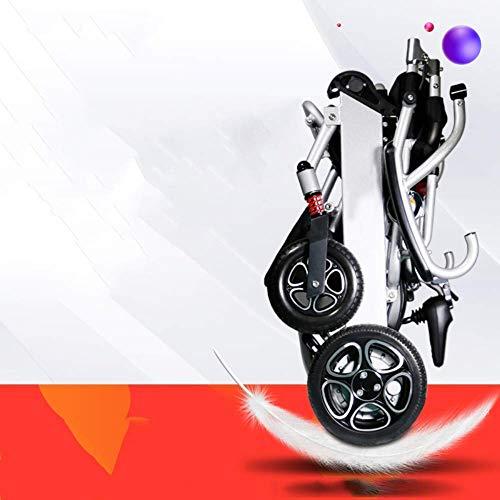 Wheelchair Rollstuhl, medizinischer Reha-Stuhl für Senioren, alte Menschen, Bester Rollstuhl 2019 Neuer elektrischer Rollstuhl Klappbarer leichter elektrischer Hochleistungs-Elektrorollstuhl (Silber)