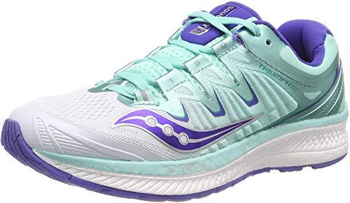 Saucony Triumph ISO 4, Zapatillas de Running Mujer, Blanco (White/Aqua 35), 39 EU