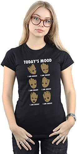 Marvel Mujer Guardians of The Galaxy Groot Today'S Mood Camiseta