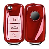 kwmobile ケース - シリコン キー保護 対応: VW Skoda Seat 3-ボタン 車のキー 用 - 車 鍵 プロテクション