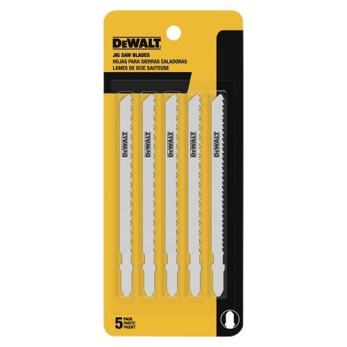 DEWALT DW3750-5 4-Inch 6 TPI Fast Wood Cut Cobalt Steel T-Shank Jig Saw Blade (5-Pack)