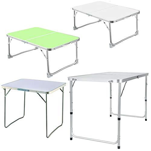 Tavolo da letto per computer portatile, pieghevole, supporto per notebook e lettura, con gambe pieghevoli per letto, divano, colazione, studio, lettura, 60 x 40 cm, verde