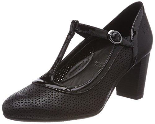 Gerry Weber Shoes Damen Amelie 10 T-Spangen Pumps, Schwarz Schwarz, 38 EU