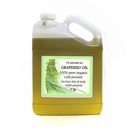 7 Lb/One Gallon Organic Grapeseed Oil