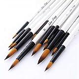 BAOFUBA 12 PCS/Set Nylon de Madera Pinceles de Pintura de acrílico para acrílico Acuarela Pintura al óleo Suministros Art Craft Kit
