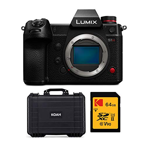 Panasonic LUMIX S1H 24.2MP Full Frame Mirrorless Digital Camera (Body Only) with Koah Weatherproof Hard Case and 64GB V90 UHS II SD Card Bundle (3 Items)