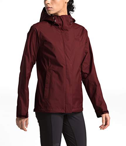 The North Face Women's Venture 2 Waterproof Hooded Rain Jacket, Deep Garnet Red, XS