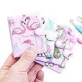 BLOUR 1 Set/Lote Mini Cuaderno de Dibujos Animados Kawaii Memo + Juego de bolígrafo Dos selecciones Notas Libro Marca Pegatinas Fiesta Signo Libro