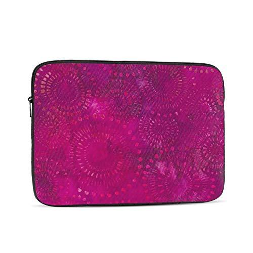 Funda protectora para ordenador portátil de 13 pulgadas, diseño bohemio de Batik, color rosa intenso