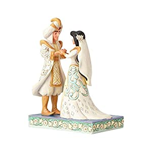 Jazmín y Aladino - Figura decorativa de Jim Shore Disney Traditions, por Enesco. 4