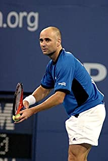Posterazzi Poster Print EVC0507SPGOH014 Andre Agassi Inside for U.S. Open Tennis Tournament Arthur Ashe Stadium Flushing Ny September 07 2005. Photo by Rob RichEverett Collection Celebrity (8 x 10)