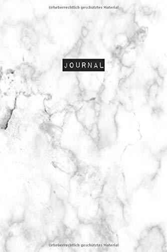 Journal in Marmordesign (weiß): 150 Seiten | Punktraster | A5 | Tagebuch | To-do | Notizen | Bullet Journal | Notizbuch | Notebook | Composition Notebook