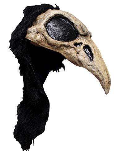 Horror-Shop Krähen Helm Maske für Halloween & LARP