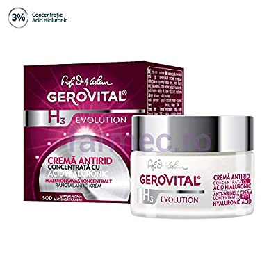 GEROVITAL ANTI WRINKLE DAY AND NIGHT CREAM with Hyaluronic Acid 3%
