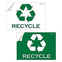 IGNIXIA リサイクルサインデカール 02枚パック 粘着式 大型 10 x 7インチ