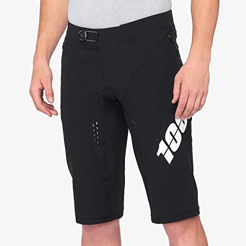 100% Percent Men's R-Core-X DH Mountain Bike Shorts – 42002 (Black – 32)