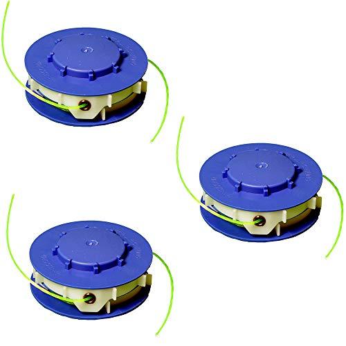 IKRA 13006001-3 Ersatzspulen (DV) 3er-Set Fadenspulen für Rasentrimmer