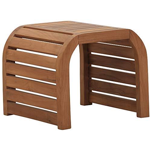 Teako Design Teako Design Beistelltisch Alpes Teak unbehandeltes Massivholz Wetterfest robust Tisch Holztisch GartentischBalkontischlz