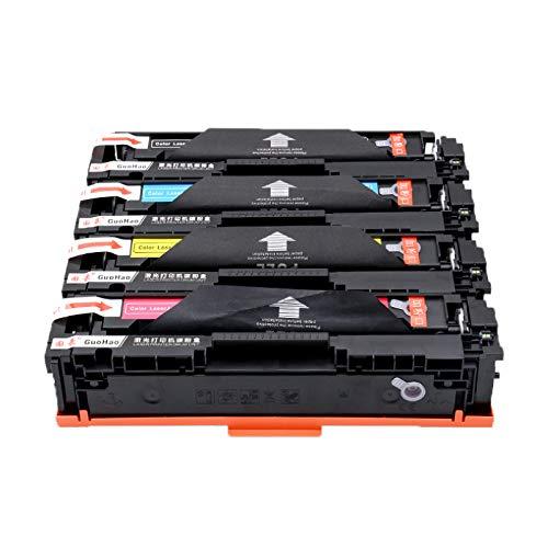 TEZAI Adecuado para HP CE410A Cartucho de tóner 300 305A M451DN CP2025 CM2320 CC530A 351 475DN Cartucho de tóner CF380A, Adecuado para Canon CRG318 418 7200 4-Set