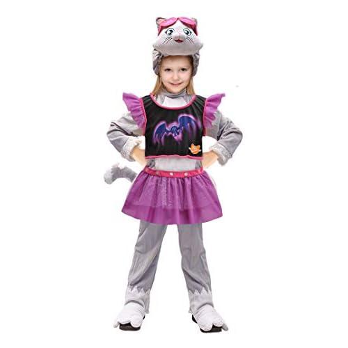 Ciao-Milady gattina 44 Gatti Halloween Special Edition Costume Travestimento Bambina (Taglia 3-4 Anni), Multicolore, 11232.3-4