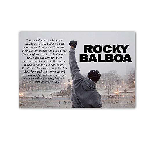 SDFSD Arnold Schwarzenegger Bodybuilding Motivationszitat Kunst Seidenplakat Druck Wandbild für Wohnzimmer 60 * 100cm
