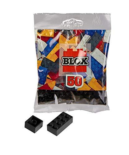Simba 104114126 - Blox, 50 schwarze Bausteine für Kinder ab 3 Jahren, 16x 8er und 34x 4er Steine, in Beutel, vollkompatibel mit vielen anderen Herstellern
