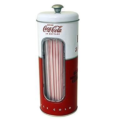 The Tin Box Company 771587-12 Coca Cola Straw Holder 50