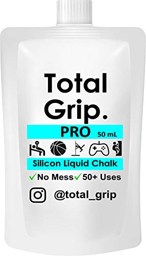 Total Grip Invisible Hand Clear Flüssige Kreide 50 ml Für Stangentanz Gewichtheben Gym Kettlebells Golf Klettern Bouldern Yoga Squash Tennis Badminton Für trockene Hände Dry Hands