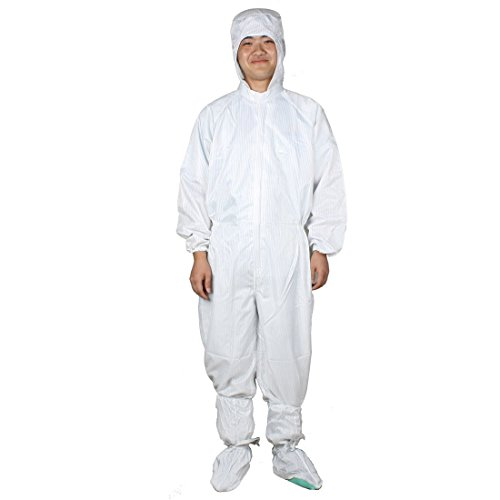 Unisex witte strepen anti-statische raglan overall jumpsuit L W schoenen