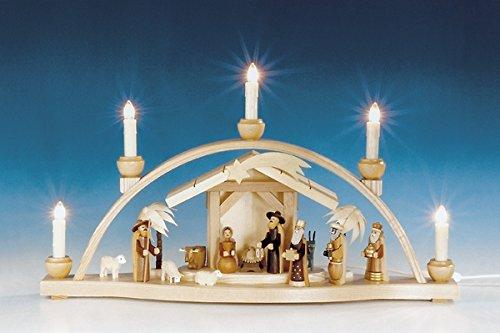 Arco pequeño con el sistema de la natividad, arco sin pintar, eléctrico...