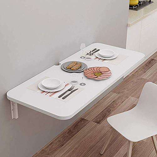 Opklapbaar bureau voor wandmontage Kleine wandtafel met klapblad, neerklapbare stijl Laptop/computerbureau/boekenplank Zwevende planken, 60 cm * 30 cm