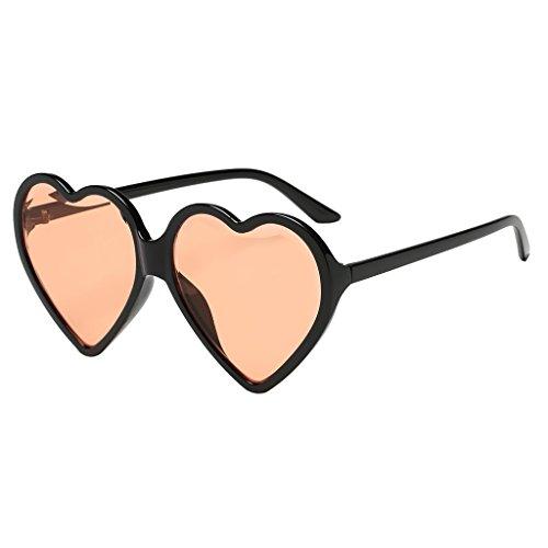 Herzform Party Sonnenbrillen Partybrille Spaßbrille Lustige Brille Kostüme Foto Prop - Champagner, 141mm