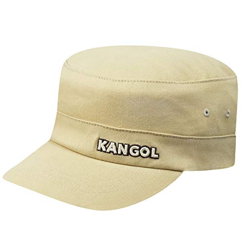 Kangol Cotton Twill Army Cap Beige, Small-Medium