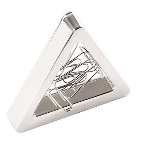 noTrash2003 - Porta graffette magnetico, in metallo lucido lucido (argento lucido)