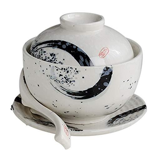 Tazón de Sopa Nido de pájaro de cerámica con Tapa Cuenco de...