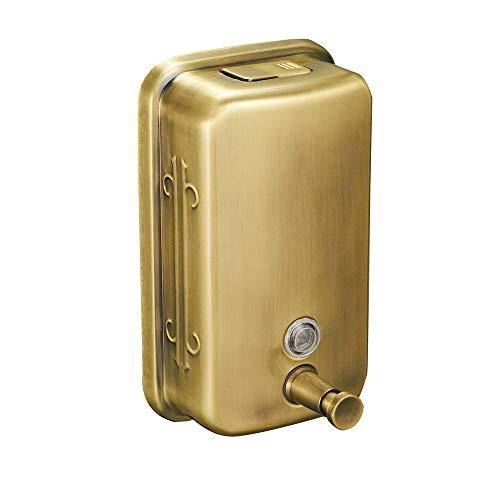 Dispensador de jabón para instalación en pared dorado