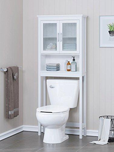 Spirich Home Bathroom Shelf Over The Toilet, Bathroom Cabinet Organizer with...