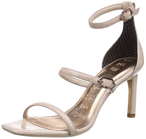 Ted Baker Women's Ankle Strap Heeled Sandal, Nude-Pink, 8