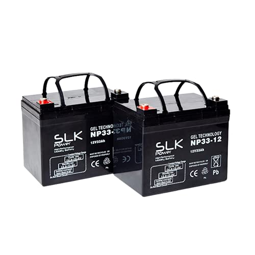 SLK Power Mobility Scooter Gel Battery Pair of 2 And Performance, Reliable And long Lasting Replacement Batteries For Electric Scooters And Wheelchairs