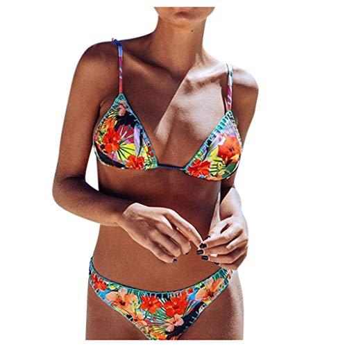 Dasongff Vintage Rockabilly Bikini sets bloesem print badmode boho etnisch stijl zwemsuit twee stuks basic casual strachwear badkleding