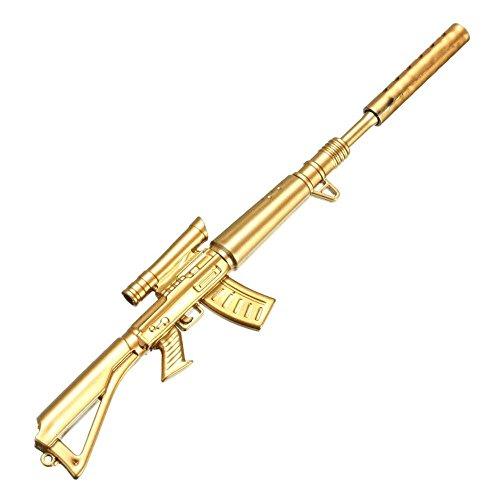 sgerste 1Stück 0,38mm Creative Novelty Cute Gold Gewehr Form Design Schwarz Tinte Kugelschreiber Stationery Supplie