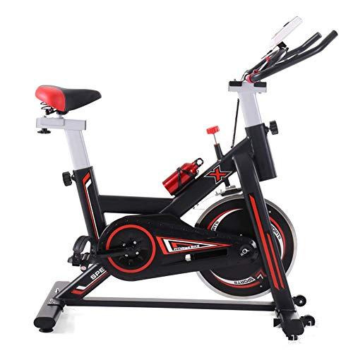Heimtrainer Radfahren, LCD-Anzeige zeigt die Zeit usw. an, Verstellbarer Lenker Sitzwiderstand, elektromagnetisches Spinnrad für zu Hause mit tragbarem beweglichem Rad, Rutschfester Saugnapf