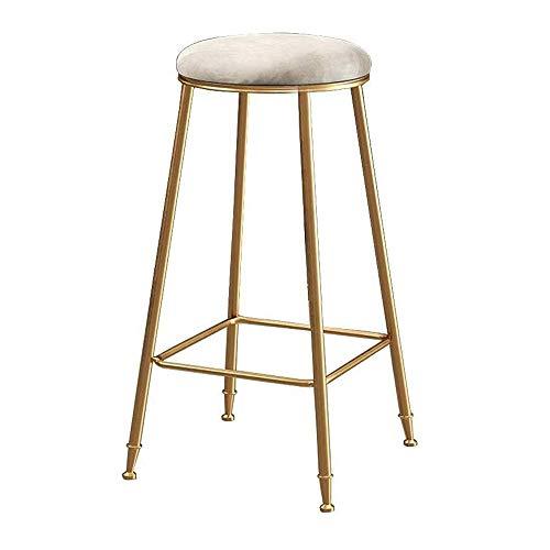 Bqy barkruk keukenstoel 29in kruk goud-rustiek, barkruk -Counter hoogte kruk 440 lb capaciteit fluwelen kussen metaal kruk stoel - stapelbaar (kleur: wit)