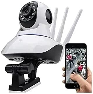 Camera De Segurança Ip Robo Wifi Babá 360 Graus HD Visão Noturna (Branca)